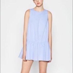 Zara Poplin Romper Dress Sleeveless Flounce Skirt